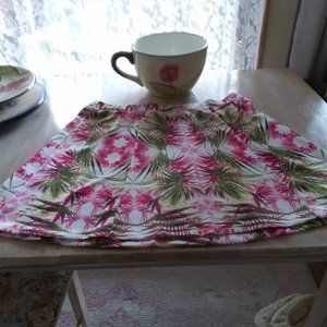 INC Tropical Floral Stretch Skirt